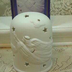 White Porcelain Angelic Splendor votive